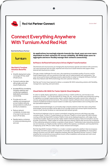 RedHat Partner Solution Brief